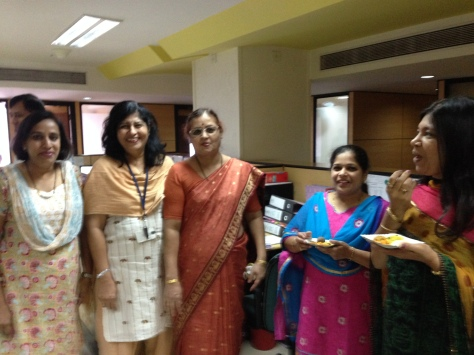 Group of Rajshree's freinds in BPCL who enjoyed the Nachni Ladoo